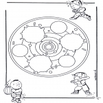 Malvorlagen Mandalas - Kindermandala 24