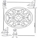Malvorlagen Mandalas - Kindermandala 4