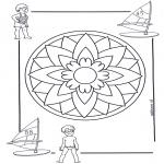 Malvorlagen Mandalas - Kindermandala 5