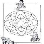 Malvorlagen Mandalas - Kindermandala 7