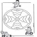 Malvorlagen Mandalas - Kindermandala 8