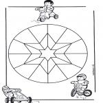 Malvorlagen Mandalas - Kindermandala 9
