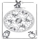 Malvorlagen Mandalas - Kindermandala