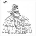Allerhand Ausmalbilder - Klassische Kleid