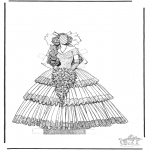 Malvorlagen Basteln - Kleider 1.3