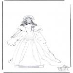 Malvorlagen Basteln - Kleider 1.9