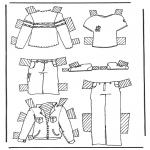 Malvorlagen Basteln - Kleider Anziehpuppe 2