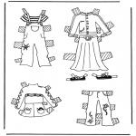Malvorlagen Basteln - Kleider Anziehpuppe 3