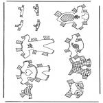 Malvorlagen Basteln - Kleider Anziehpuppe 4