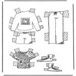 Malvorlagen Basteln - Kleider Anziehpuppe 5