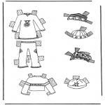 Malvorlagen Basteln - Kleider Anziehpuppe 7