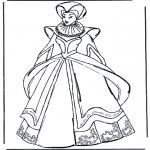 Allerhand Ausmalbilder - Kleidung aus Mittelalter