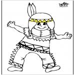 Allerhand Ausmalbilder - Kleine Indianer 1
