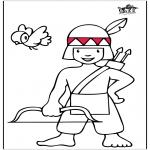 Allerhand Ausmalbilder - Kleine Indianer 2
