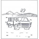 Allerhand Ausmalbilder - kleiner LKW