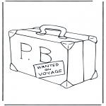 Ausmalbilder für Kinder - Koffer Paddington