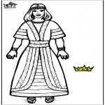 Bibel Ausmalbilder - Königin Esther 2