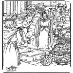 Bibel Ausmalbilder - Königin von Sheba