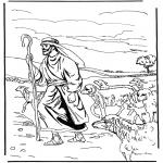 Bibel Ausmalbilder - Kostenlose malvorlage der Hirte