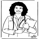 Allerhand Ausmalbilder - Krankenhausarzt