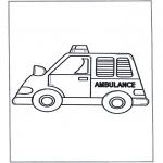 Allerhand Ausmalbilder - Krankenwagen