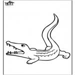 Ausmalbilder Tiere - Krokodil 3
