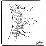 Malvorlagen Basteln - Krönchen Dora