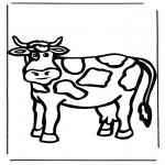 Ausmalbilder Tiere - Kuh 1
