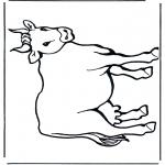 Ausmalbilder Tiere - Kuh 2