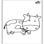 Ausmalbilder Tiere - Kuh 3