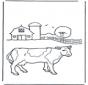 Kuh im Bauernhof