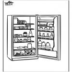 Allerhand Ausmalbilder - Kühlschrank