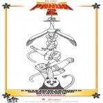 Ausmalbilder Comicfigure - Kung Fu Panda 2 Zeichnung 1
