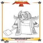 Ausmalbilder Comicfigure - Kung Fu Panda 2 Zeichnung 3