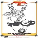 Ausmalbilder Comicfigure - Kung Fu Panda 2 Zeichnung 4