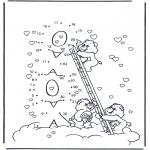 Ausmalbilder für Kinder - Kuschelbärchen 3