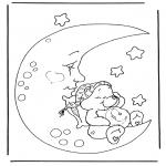 Ausmalbilder für Kinder - Kuschelbärchen 4