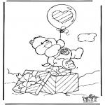 Ausmalbilder für Kinder - Kuschelbärchen 5