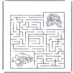 Malvorlagen Basteln - Labyrint Mädchen