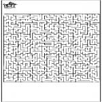 Malvorlagen Basteln - Labyrinth 1