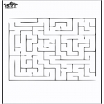 Malvorlagen Basteln - Labyrinth 2