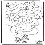 Malvorlagen Basteln - Labyrinth Dora