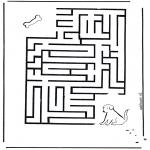 Malvorlagen Basteln - Labyrinth Hund