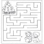 Malvorlagen Basteln - Labyrinth Kinder
