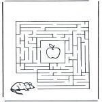 Malvorlagen Basteln - Labyrinth Maus