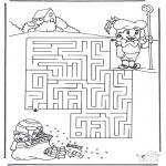 Malvorlagen Basteln - Labyrinth Sankt Nikolaus