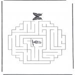 Malvorlagen Basteln - Labyrinth  Schmetterling