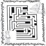 Malvorlagen Basteln - Labyrinth Surfer