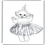 Ausmalbilder für Kinder - Lala in Rock