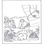 Ausmalbilder für Kinder - Lars im Urwald